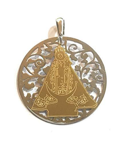 Medalla Virgen de la Fuensanta en Plata de Ley