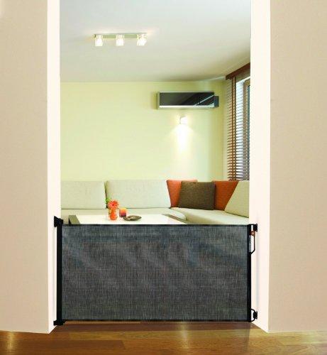 Dreambaby G943 Ausziehbare Tür und Treppenschutzgitter Rollo, bis 140 cm, schwarz - 2