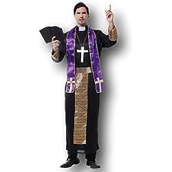 Hombre Cardenal Santo Pope Vicario Cura Obispo Religioso Disfraz Despedida De Soltero
