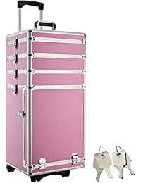 TecTake Valise Malette Trolley à Roulettes Esthetique Poignée Télescopique - diverses couleurs au choix