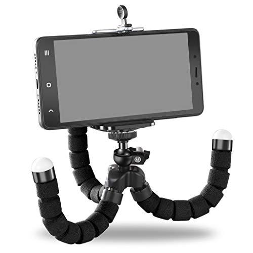 YONG FEI Handyhalter - Flexibler Octopus Stativhalterung Selfie Erweiterungsständerhalterung Monopod Styling Zubehör für Handy-Kamera Handyhalter (Farbe : SCHWARZ)