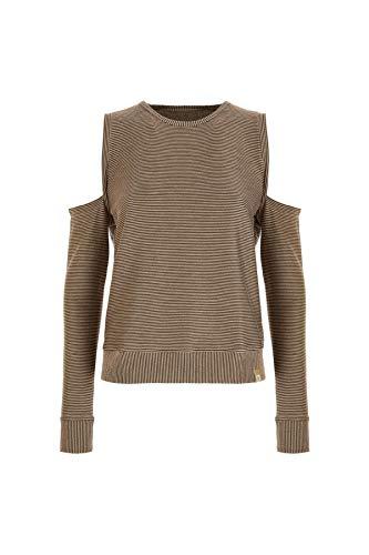 Freddy Damen Sweatshirt mit feinen Streifen aus goldfarbenem Lurex Skin Pink Lurex M -