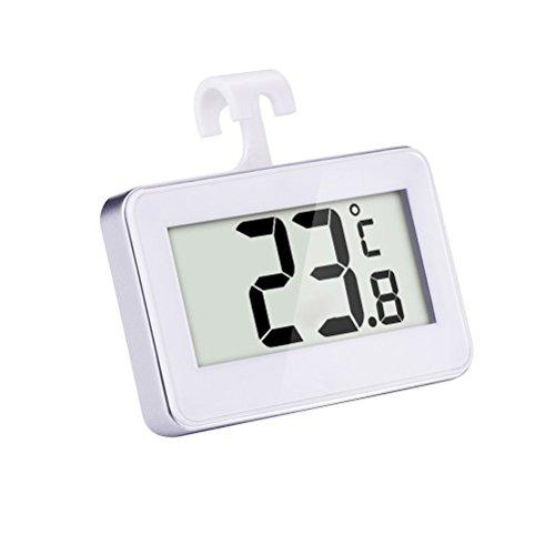 BESTOMZ Digital Kühlschrank Thermometer Wasserdicht Gefrierschrank Thermometer mit Haken LCD Anzeige Lesen