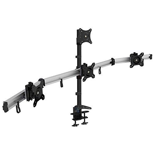 HFTEK 4-Fach Monitorarm -Tischhalterung für 4 Bildschirme von 15-27 Zoll mit VESA 75/100 (MP234C-L)