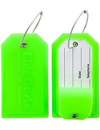 CSTOM Etiquetas de Equipaje Maleta Accesorios de Viaje +privacidad con cubierta de acero Loops
