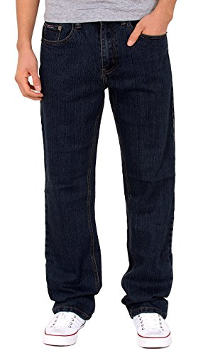 by-tex Herren Straight Leg Jeans Hose Loose Fit Jeans gerader Schnitt Jeanshose in Übergröße A420 (Jean Loose Leg Straight)
