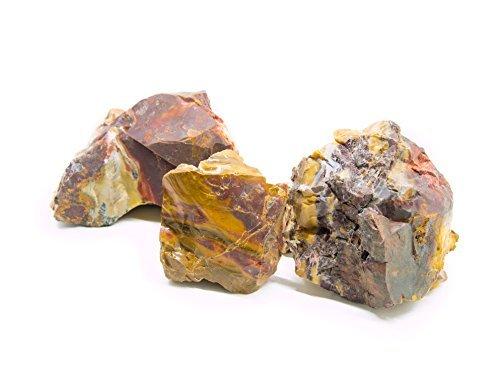 Aquatic Arts 20 lb of Natural Red Glass Red Jasper Aka Fire Stone Nano/Desktop Rubble Rock Assortment 1
