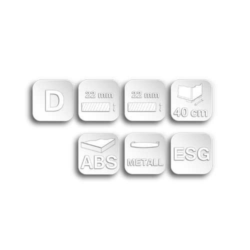 Sideboard in weiß Hochglanz, chromatierte Metallgriffe, wendbare Rückwände, Füße silber lackiert,Maße: B/H/T ca. 200/85/40 cm - 6