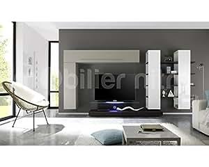 Ensemble meuble TV laqué design Lilo