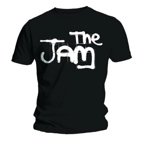 Official T Shirt THE JAM Black Spray Logo T-shirt