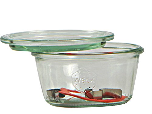 Weck Bote de 370 ml, con tapadera de 100 mm, con junta y Clips, caja d