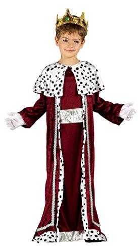 Guirca Kostüm-König Magier, Rot, 7–9Jahre -