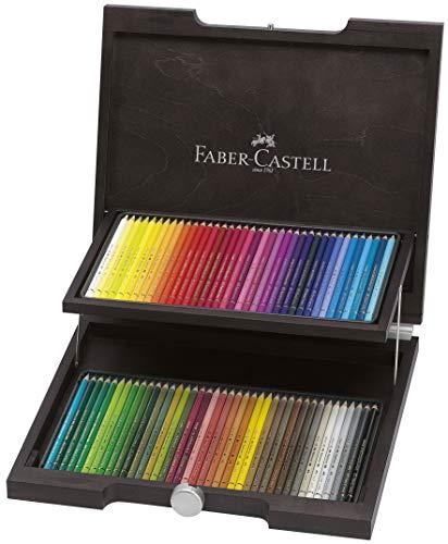 Faber-Castell 110072 - Farbstift Polychromos Holzkoffer 72er