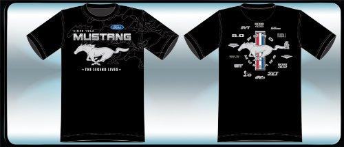 Preisvergleich Produktbild JH Design Ford Mustang The Legend Herren T-Shirt