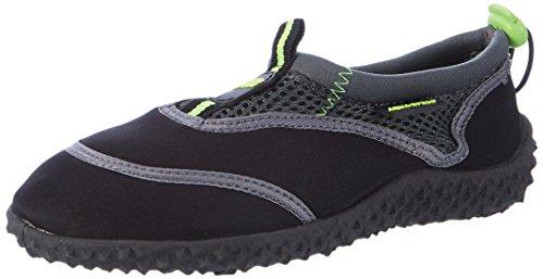 Aqua-Speed Aquaschuhe Chaussure de l'eau / Chaussures de surf / Chaussures de bain 2014 Noir/Vert/Gris