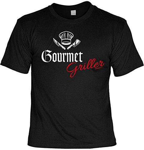 Grill T-Shirt Geschenkidee Grillen T-Shirt Gourmet Griller Grill Party Geschenk zur Grillsaison Schwarz