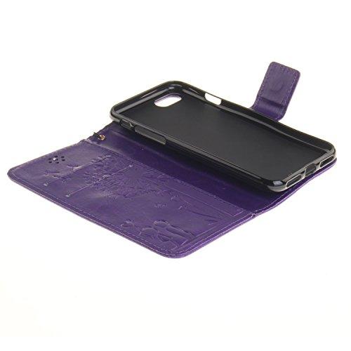 iPhone Case Cover Normallack PU-lederner Fall-Löwenzahn-Geliebt-prägender Fall-Mappen-Standplatz-Fall für iPhone 7 ( Color : 2 , Size : IPhone 7 ) 10