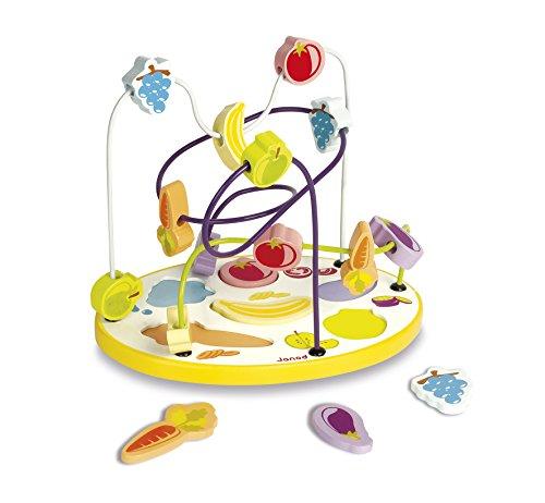 Janod J08091 Labirinto Puzzle Frutta e Verdura in Legno