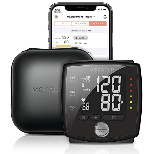 41zrAFNSafL. SS500  - MOCACuff Portable Bluetooth Blood Pressure Monitor, Wrist Blood Pressure Monitor Cuff, Phone Connect Fully Automatic…