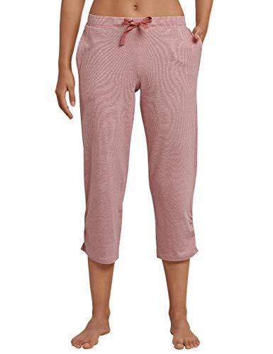 Schiesser Damen Mix & Relax Jerseyhose 3/4 lang Schlafanzughose, Rot (Terracotta 532), 38 (Herstellergröße: 038)