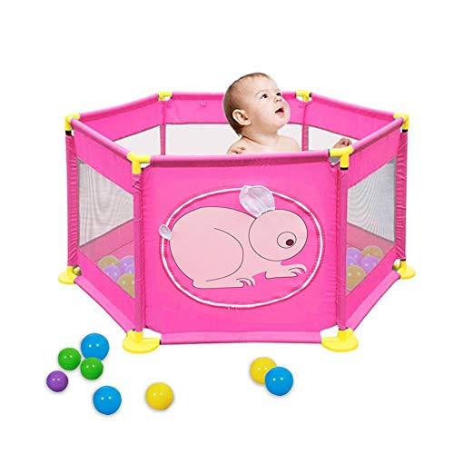 liuxi - Recinzione di Sicurezza per Bambini, in Ferro, 6 Pannelli, Pieghevole, per Bambini, per Interni ed Esterni