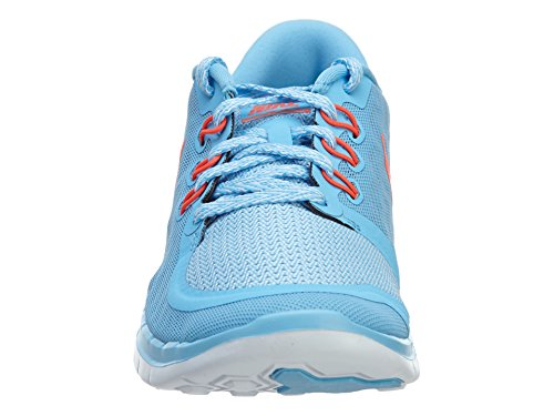 Nike Free 5.0 (GS) Mädchen Sneakers Blau (Lakeside/Bright Crimson-Blue Lagoon)