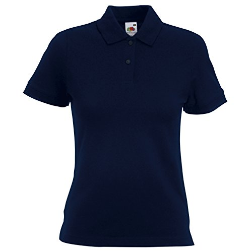 Fruit of the Loom - Polo -  - Uni - Col polo - Manches courtes Femme Bleu - Bleu roi