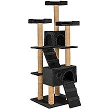 TecTake Rascador Árbol para gatos 169 cm de altura negro
