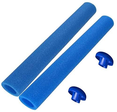 16x Trampolin Schaumstoff blau 82 cm für 8 Stangen, incl. Endkappen -