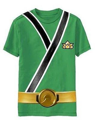 Costumes Power Rangers Garçons - T-shirt pour enfant motif Power Rangers Samurai