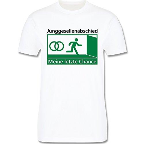 JGA Junggesellenabschied - Meine letzte Chance - Herren Premium T-Shirt Weiß