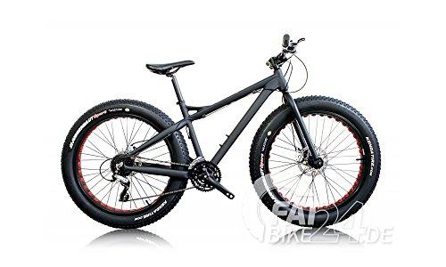BH Bikes Big Foot Fat Bike fatbike mounten Bike MTB con 4pulgadas Kenda Cut Out Llantas y lischen–Freno Hidráulico Modelo 2016, negro / amarillo