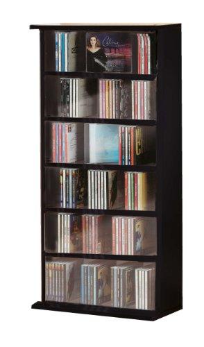 vcm-25241-vostan-torretta-per-cd-dvd-senza-anta-in-vetro-nero