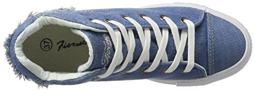 Fiorucci Fepe023, Chaussons montants femme Bleu denim