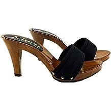 design senza tempo 39ba5 c5b95 Amazon.it: zoccoli con tacco donna