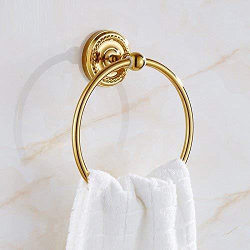 Oro Rosa casa y baño de Hotel Anillo de Toalla de galvanoplastia WU Baño Antiguo Anillo de toallero Estilo Retro Europeo