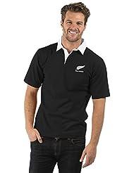 Bruntwood T-shirt de rugby à manches courtes Nouvelle-Zélande Noir