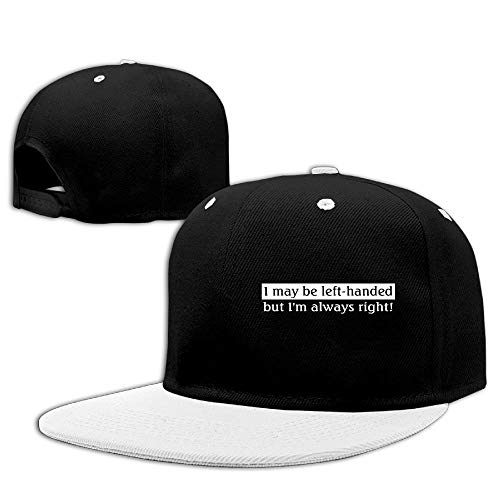 CHKWYN Men&Women I May Be Left-Handed But I'm Always Right Baseball Caps Hats Adjustable