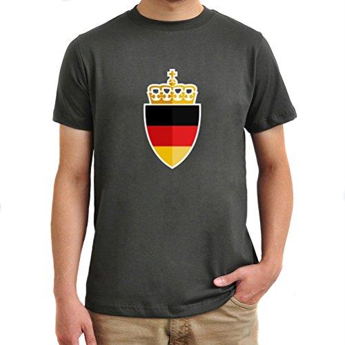 Maglietta Germany shield Argento brunito