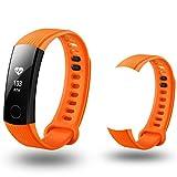 Pour Huawei honneur 3Smart Watch, Cooljun Mode nouveaux Mode Sports Bracelet en silicone Strap Band pour Huawei honneur, Orange