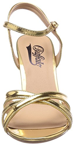 Buffalo  312703 METALLIC PU, Sandales pour femme Or - Gold (GOLD 01)