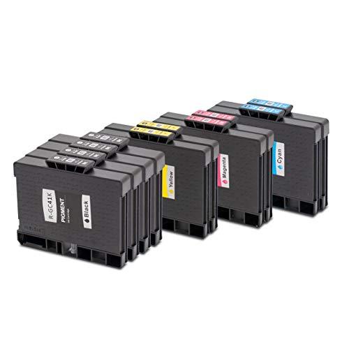 10er Set - Druckerpatronen kompatibel zu RICOH GC41 | 4x schwarz & je 2x cyan magenta gelb | geeignet für Ricoh Aficio SG-2100N / SG-3100 Series / SG-3100SNW / SG-3110N / SG-3110DN / SG-3110DNW / SG-3110SFNW / SG-3120BSFNW / SG-3120BSF / SG7100DN