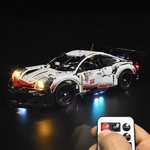 POXL Licht-Set Für Technic Porsche 911 RSR - LED Licht Set Led Light Kompatibel Mit Lego 42096 (Lego Modell Nicht Enthalten)