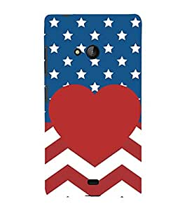 PrintVisa Stripes With Stars 3D Hard Polycarbonate Designer Back Case Cover for Microsoft Lumia 540 Dual SIM