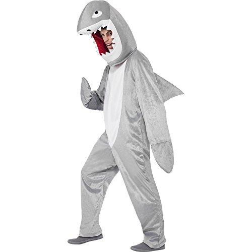 Smiffys, Herren Hai Kostüm, Bodysuit und Kopfteil, One Size, 43815