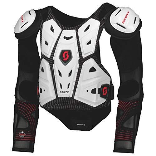 Scott Commander 2 MX Motocross DH Protektorenjacke weiß/schwarz 2018: Größe: L