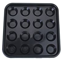 F Fityle Piscina De Plástico Bandeja De Bola De Billar Tiene 16 Pelotas - Negro