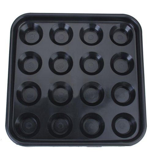 Kunststoff-Pool Billardkugel Fach Nimmt 16 Kugeln - Black