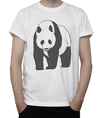 Giant Panda Bear Mens T-Shirt Blanc