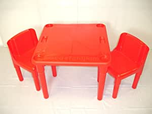 Kiddy Activity Table and 2 Chair Set Red